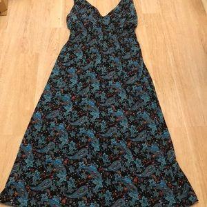 Paisley maxi dress plus size dress 2x